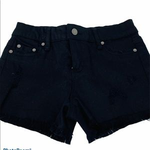 TRACTR**Black Denim Shorts**Size 8 $62